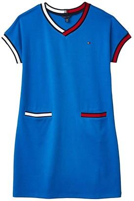 Tommy Hilfiger Flag Ponte Dress (Big Kids) (Directioire Blue) Girl's Clothing