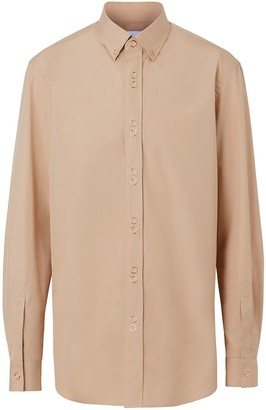 Burberry Classic Fit Double Press-stud Cotton Shirt