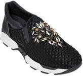 Rene Caovilla Ponyskin & Swarovski Slip-On Sneakers
