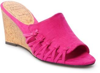 New York Transit Warmness Women's Slide Wedge Sandals
