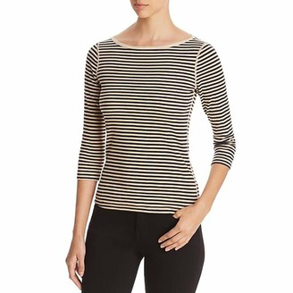 Three Dots Women's Bali Stripe 3/4 SLV British tee