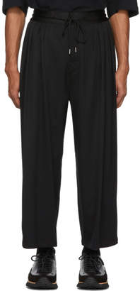 SASQUATCHfabrix. Black Wool Wide-Leg Trousers