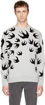 McQ Grey and Black Swallows Clean Sweatshirt