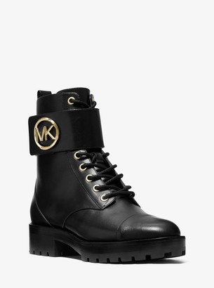 MICHAEL Michael Kors Tatum Leather Combat Boot