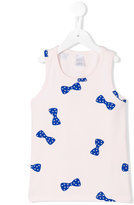 Tiny Cottons - bow detail tank top - kids - Spandex/Elastane/Supima Cotton - 2 yrs