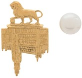 Wouters & Hendrix Lion Brussels Town Hall and Pearl studs