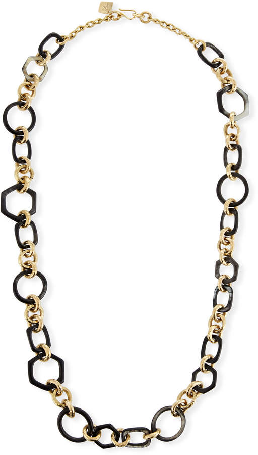 Ashley Pittman Shauri Dark Horn Link Necklace