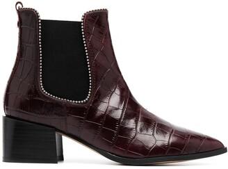 Carvela Spire crocodile embossed ankle boots