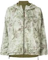 Woolrich printed reversible hooded jacket