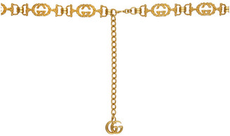 Gucci Gold Engraved GG Chain Belt