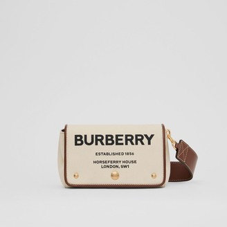 Burberry Small Horseferry Print Cotton Canvas Crossbody Bag
