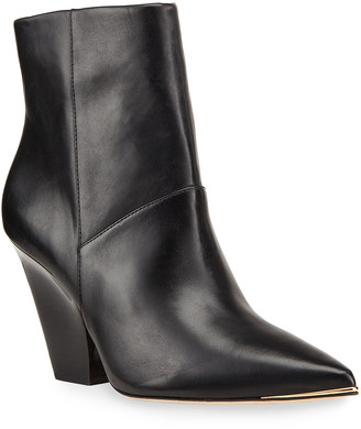 Tory Burch Lila 90mm Leather Zip Booties