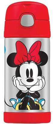 Thermos Vacuum Insulated Stainless Steel 12-ounce Funtainer with Straw - Minnie Mouse