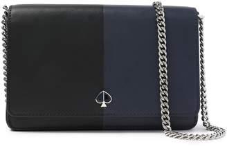 Kate Spade Logo-appliqued Two-tone Leather Shoulder Bag