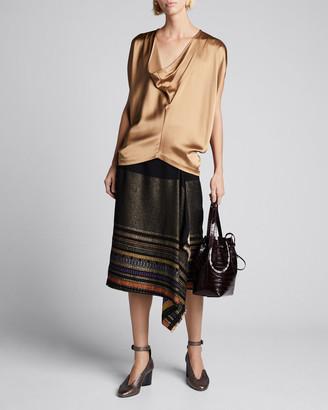 Zero Maria Cornejo Miro Basket-Weave Wrap Skirt