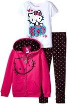 Hello Kitty 3 Piece Leggings Set (Toddler/Kid) - Fuchsia Purple - 4