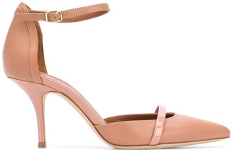 Malone Souliers Booboo 85mm leather-trimmed pumps
