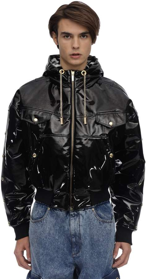 Versace VINYL COATED BOMBER JACKET