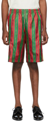Gucci Multicolor Silk Drawstring Shorts
