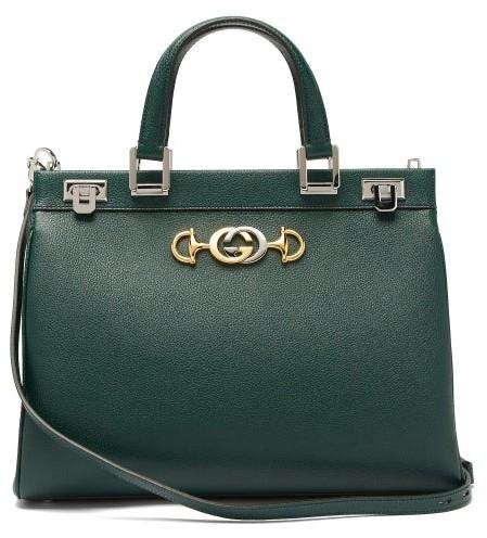 af4d628f600038 Dark Green Leather Handbags - ShopStyle
