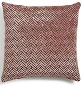 "Hallmart Collectibles Blush Geo Velvet 18"" Square Decorative Pillow"