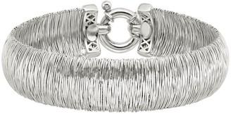 Italian Silver Wire-Wrapped Wide Bracelet, 22.8g