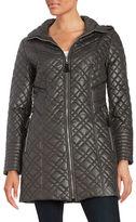 Via Spiga Plus Zip-Front Quilted Jacket