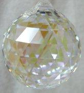 Swarovski 30mm Aurora Borealis Crystal Faceted Ball Prism
