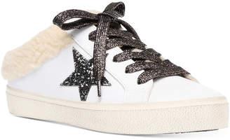 Steve Madden Women Polaris Faux-Fur Backless Sneakers