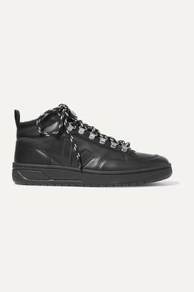 Veja Net Sustain Roraima Leather High-top Sneakers - Black