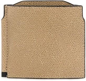Valextra foldover square wallet