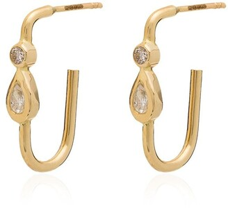 Jacquie Aiche 14kt Gold and diamond teardrop earrings