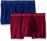 Bjorn Borg Men's 2-Pack Seasonal Solid Trunks