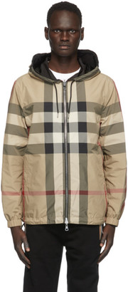 Burberry Reversible Beige and Black Recycled Nylon Jacket