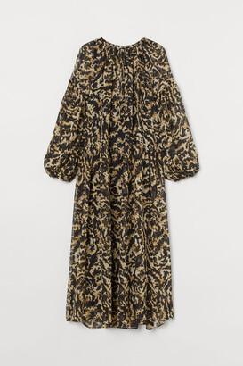H&M Long Chiffon Dress - Black