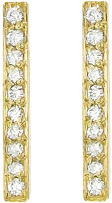 Jennifer Meyer Diamond Long Bar Yellow Gold Stud Earrings