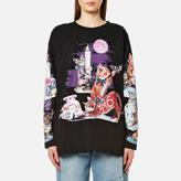 MM6 MAISON MARGIELA Women's Cat Sweatshirt Black Cat Print