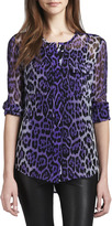 Equipment Lynn Leopard-Print Blouse