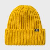 Paul Smith Men's Mustard British Wool Beanie Hat