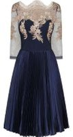 Dorothy Perkins Womens *Chi Chi London Navy Embroidered Dress- Navy