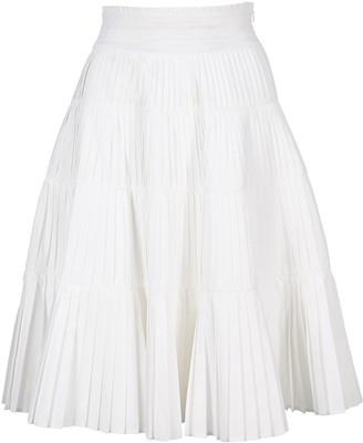 Prada Pleated Flared Skirt