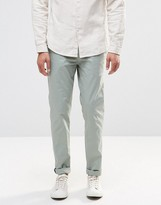 Pull&Bear Slim Chinos In Pale Green
