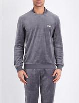 Emporio Armani Chenille jersey sweatshirt