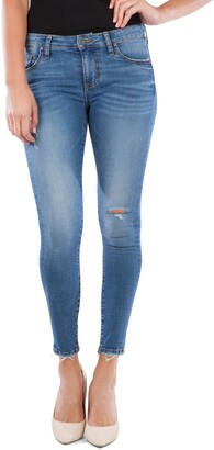 KUT from the Kloth Connie Ripped Ankle Skinny Jeans