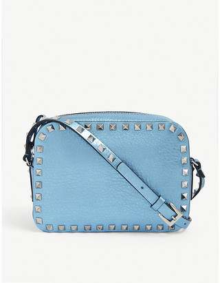 Valentino Rockstud leather cross-body camera bag