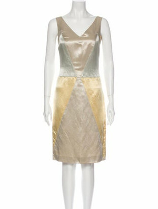 Valentino Linen Knee-Length Dress