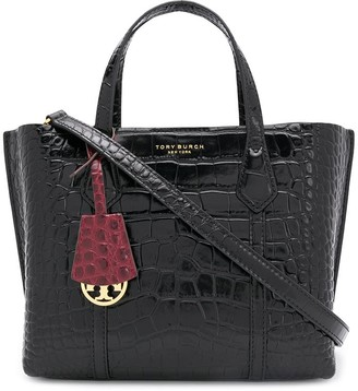 Tory Burch Perry embossed small triple-compartment tote
