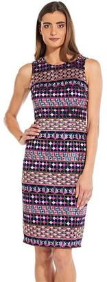 Adrianna Papell Gogo Embroidery Sheath Dress