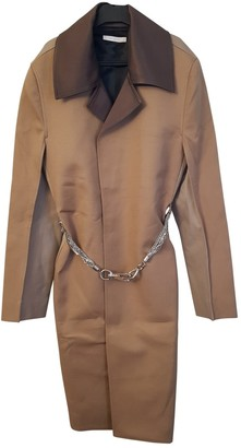 Peter Do Brown Cotton Coat for Women