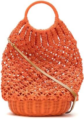 Serpui Marie crochet straw bag